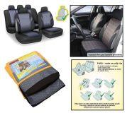 Autopotahy POLY barevné, s atestem na airbagsada 9ks
