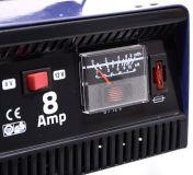 Univerzální nabíječka autobaterie akumulátorů Celokovová 8 Amper 6/12V Vyrobeno v EU