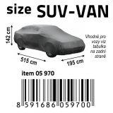 Autoplachta NYLON velikost SUV-VAN 515x195x142 cm, Celoroční ochranná plachta na auto Vyrobeno v EU