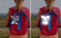 Luxusní Plyšový reflexní přívěsek na kočárek, školní batoh, tašku, kolo Vyrobeno v EU