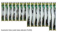 "Stěrač přední/zadní 450mm, 18"" ALFA ROMEO, CITROEN, DACIA, DAEWOO, FIAT, HONDA, HYUNDAI, JEEP, KIA, MAZDA, MERCEDES, NISSAN, OPEL, PEUGEOT, RENAULT, SEAT, SUZUKI, ŠKODA, TOYOTA, VOLKSWAGEN bezraménkový plochý s adaptéry FLEXI a grafitovou gumičkou"