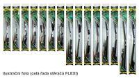 "Stěrač přední 580mm, 23"" ALFA ROMEO, BMW, CADILLAC, CHEVROLET, FIAT, HONDA, LADA, LANCIA, MERCEDES, SAAB, TOYOTA bezraménkový plochý s adaptéry FLEXI a grafitovou gumičkou"