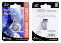 Cyklistický zvonek s držákem na kolo stříbrný SILVER Vyrobeno v EU