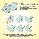 Autopotahy Poly strakaté Univerzální na auto s atestem na airbag, zipem dělená lavice Vyrobeno v EU