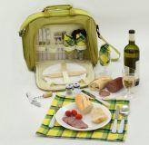 Výletné pikniková taška zelená 11 l, termovrecko pre 4 osoby