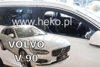 Protiprůvanové plexi, ofuky oken Volvo V90 5D 2016r =>, 4ks přední+zadní