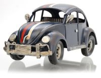 VW Brouk BLUE CAR kovový model auta 31 x 12,5 x 12 cm