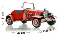 Cabrio kovový model auta 23 x 11,5 x 11 cm