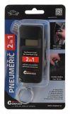 Pneumerač 2v1 LCD displej, Meria hĺbku dezénu