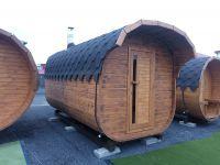 Fínska sudové Sauna KVADRO komín a pec, elek. enstalace 4,5 m