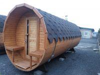 Fínska sudové Sauna s terasou, komín a pec, elek. enstalace 3,5m