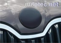 Kryt emblému - zadní, ABS-černá metalíza, Škoda Superb I, Superb II