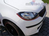 Kryty světlometů Milotec (mračítka) - ABS černá metalíza, Škoda Citigo