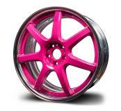 ALU koleso Work EMOTION T7R2P, 8x19 5x108 ET 45 COLORIS ružové s lešteným límcom
