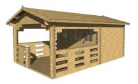 Drevený záhradný domček chatka Daniel, 17 m2