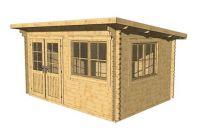 Záhradný domček Lille toit plat, 10,2 m2 drevo