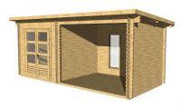 Záhradný domček s terasou Elvis 13,38 m2 drevo
