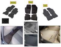 Přesné textilní koberce Fiat Grande Punto 2009r => černé