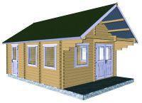 Záhradný domček s terasou Antip, 23.55m2 drevo