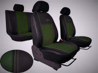 Autopotahy kožené Volkswagen Caddy III, 5 míst, 2003=>, EXCLUSIVE s alcantarou zelené