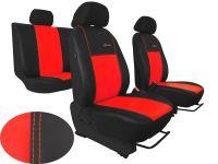 Autopotahy kožené Volkswagen Caddy III, 5 míst, 2003=>, EXCLUSIVE červené
