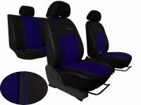 Autopotahy Ford S- MAX, od r. 2006-2010, 5 míst, kožené s alcantarou, EXCLUSIVE modré Vyrobeno v EU