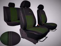 Autopotahy Škoda Octavia III, kožené/alcantara, EXCLUSIVE,se zadní loketní opěrkou, zelené Vyrobeno v EU