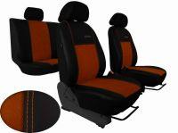 Autopoťahy na mieru Volkswagen Multivan T4, 3 místa, EXCLUSIVE kožené s alcantarou, hnědé