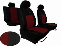 Autopoťahy na mieru kožené Volkswagen Multivan T4, 3 místa, EXCLUSIVE, vínové
