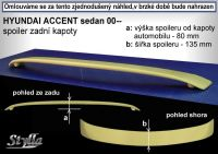 Spoiler zadní kapoty pro HYUNDAI Accent sedan 2000r =>
