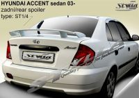 Spoiler zadní kapoty pro HYUNDAI Accent sedan 2003r =>