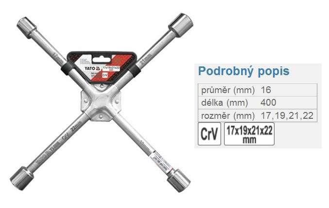 klíč křížový