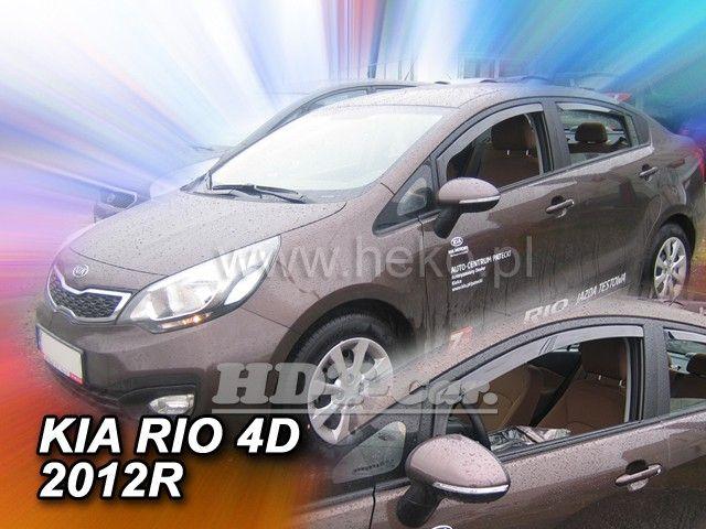 Plexi, ofuky KIA Rio 5dv, sedan, 2012r => a dál přední HDT
