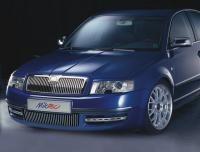 Lišty bočního sání předního nárazníku - ABS - design matný chrom, Škoda Superb