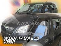 Plexi, ofuky bočních skel ŠKODA Fabia II combi 4D, 2007 =>, přední + zadní HDT