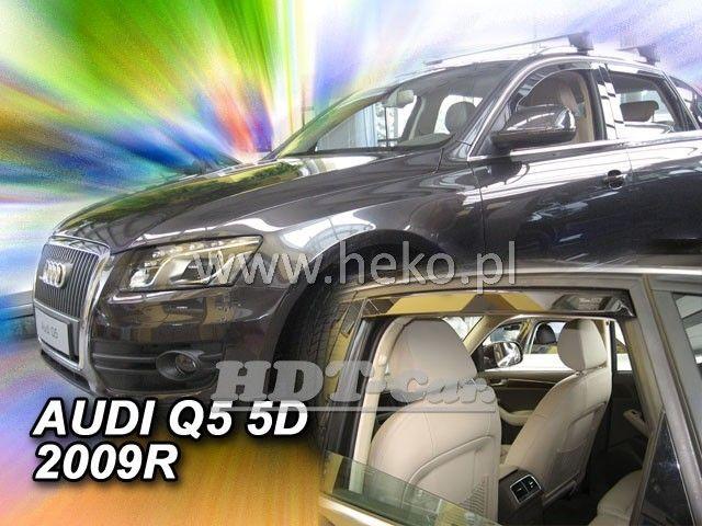 Plexi, ofuky Audi Q5 5D 2009 =>, přední + zadní heko
