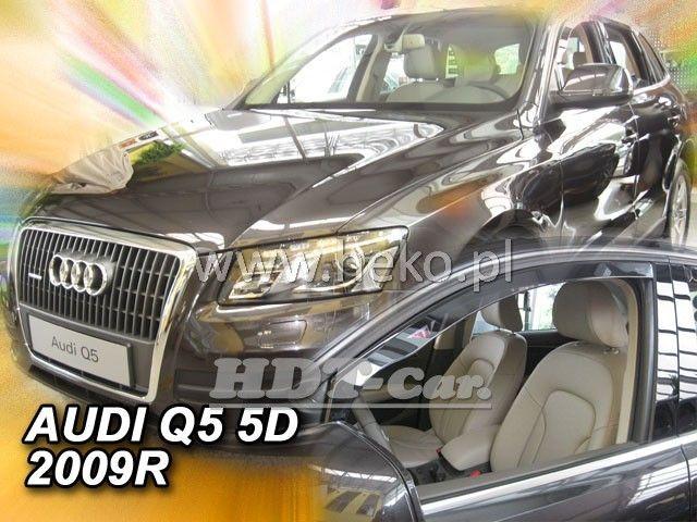 Plexi, ofuky Audi Q5 5D 2009R přední heko