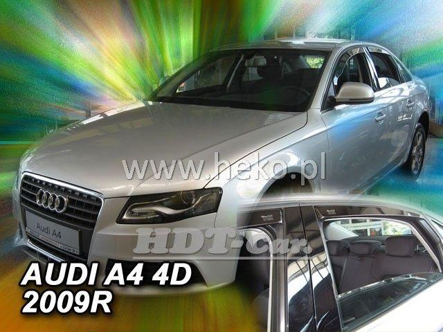 Plexi, ofuky Audi A4 4D 2009 =>, sedan, přední + zadní HDT