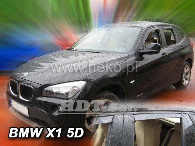 Plexi, ofuky BMW X1, 5D 2011 =>, přední + zadní HDT