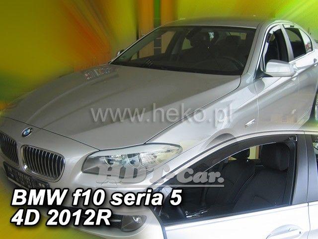 Plexi, ofuky bočních skel BMW serie 5 (f10) 4/5D 2010 => heko