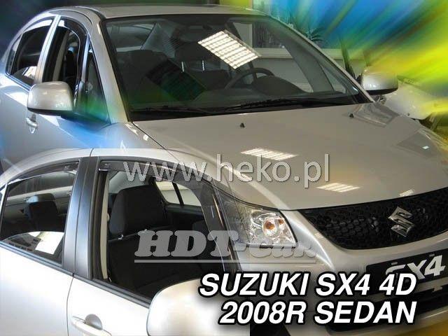 Plexi, ofuky bočních skel SUZUKI Sx4 sedan, 5D, 2006 =>, přední + zadní heko