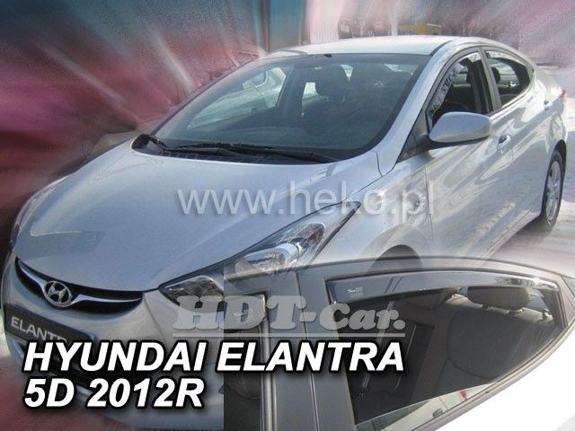 Plexi, ofuky Hyundai Elantra V 4D 2010 =>, přední + zadní heko