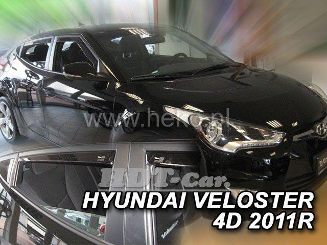 Plexi, ofuky Hyundai Elantra V 4D 2010 =>, přední + zadní HDT
