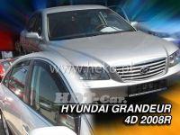 Plexi, ofuky Hyundai Grandeur 4D 2008 =>, přední + zadní HDT