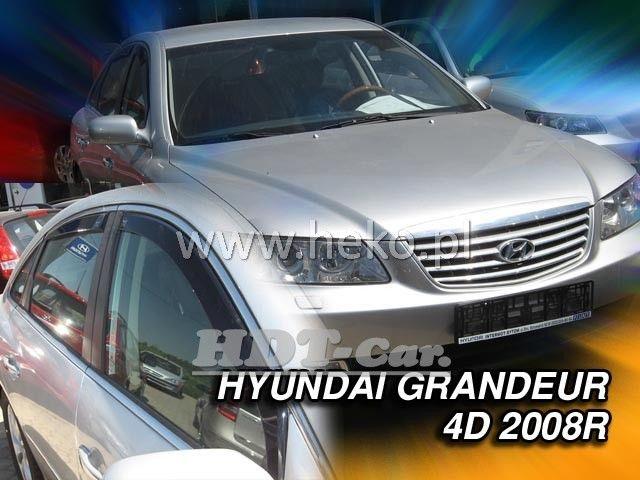 Plexi, ofuky Hyundai Grandeur 4D 2008 =>, přední + zadní heko