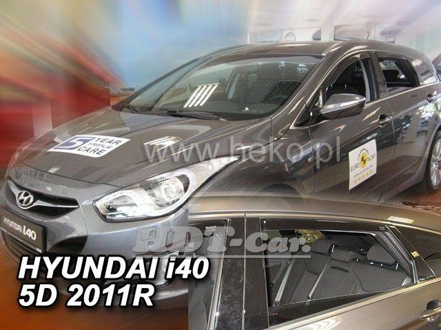Plexi, ofuky Hyundai i40 combi, 5D 2011r => přední + zadní heko