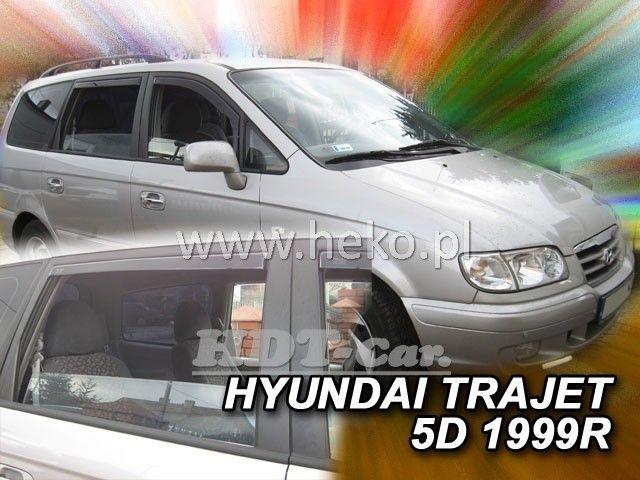 Plexi, ofuky Hyundai Trajet 5D 99-2007 přední + zadní heko