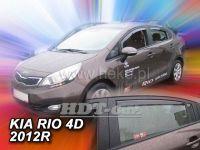 Plexi, ofuky KIA Rio 4D, sedan, 2012r =>, přední + zadní HDT