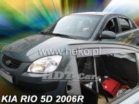 Plexi, ofuky KIA Rio HTB, 5D, 2005 =>, přední + zadní HDT