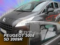 Plexi, ofuky PEUGEOT 3008, 5D, 2009 =>, přední + zadní HDT